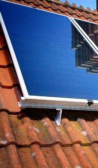 panels on Terra Cotta Roof